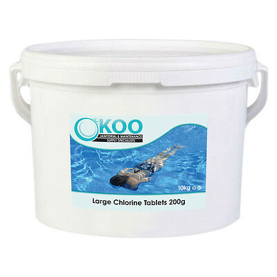 10kg Large Chlorine Tablets 200g - Swimming Pool Chemicals - Quality Tablet