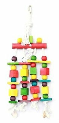 Large Blocks & Beads Toy For Parrots & Birds