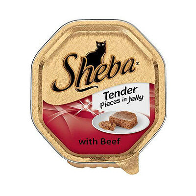 Sheba Wet Cat Food Tender Pieces in Jelly with Beef 18 x 85g