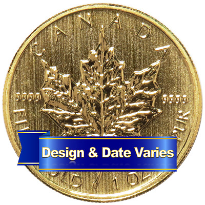 $50 Gold Canadian Maple Leaf  .9999 1 oz Random Year Brilliant Uncirculated