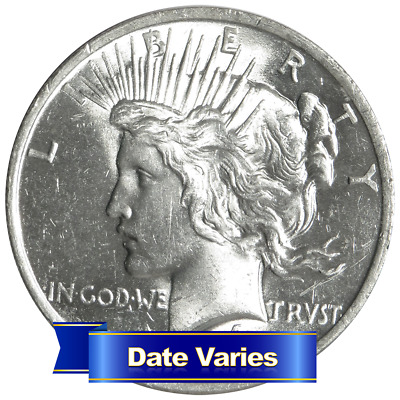 1922 to 1935 $1 Silver Peace Dollar Brilliant Uncirculated