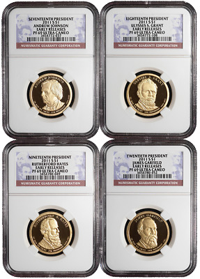 2011-S Proof $1 Presidential 4pc. Set NGC PF69UC Early Releases