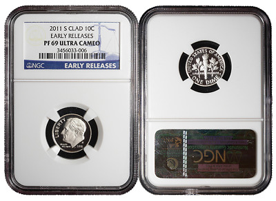 2011-S Proof 10c Clad Roosevelt Dime NGC PF69UC Early Releases Blue ER Label
