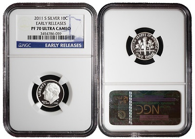 2011-S Proof 10c Silver Roosevelt Dime NGC PF70UC Early Releases
