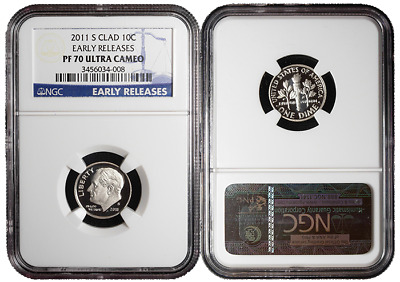 2011-S Proof 10c Clad Roosevelt Dime NGC PF70UC Early Releases