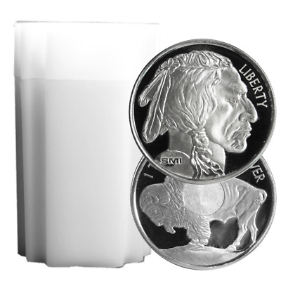 Lot of 20 - 1 Troy oz Sunshine Mint Buffalo .999 Silver Round Mint Mark SI