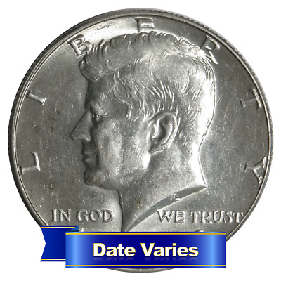 40% Silver Kennedy Half Dollars Average Circulated $1 Face Value