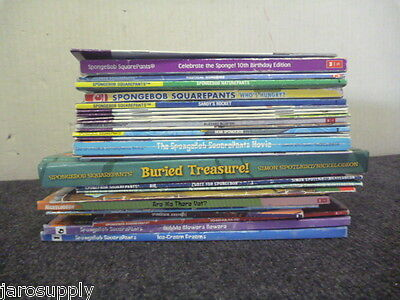 Lot of 10 Spongebob SquarePants Learn to Read TV NICKELODEON Books MIX UNSORTED