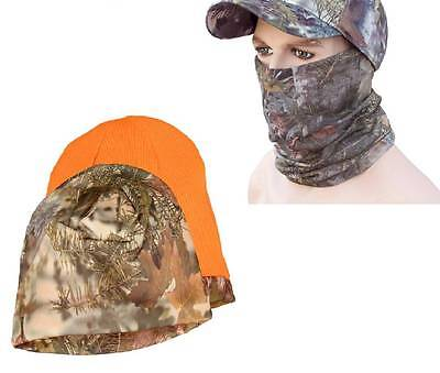 2 pc Kings Camo Bundle Beanie and Head & Neck Hood Gaiter Mountain Shadow Lot