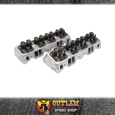 Edelbrock Alloy Cylinder Heads Small Block Chev E-Street-Complete Pair - Ed5087