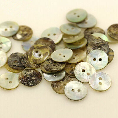 100PC Sewing Neutrals Mother of Pearl Shell Buttons 8,10,15,20MM WOAU