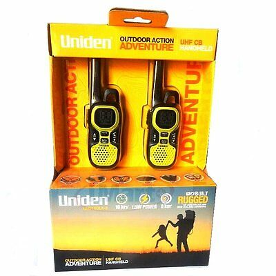 Twin Pack Uniden UH515DLX-2 UHF CB Handheld Radio Pack | 80 Channel|16hours| 8km