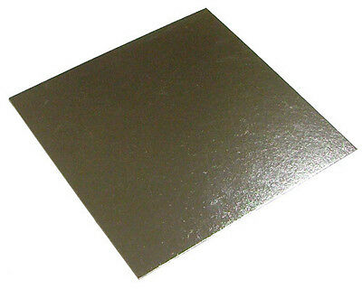 "14"" Inch Square Silver Cake Board 3mm DOUBLE THICK"
