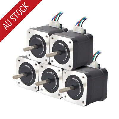 5PCS 45Ncm Nema 17 Stepper Motor 2A 4-wire 1m Cable for DIY 3D Printer CNC Robot