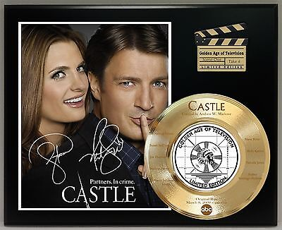 Castle Limited Edition Signature & Laser Etched Tv Series Display