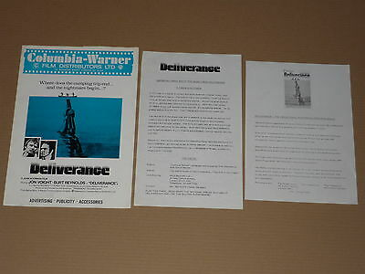 """Deliverance"" (Jon Voight/Burt Reynolds) 1972 UK Press Book"