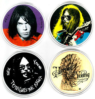 4  Neil Young  Drinks  Coasters.