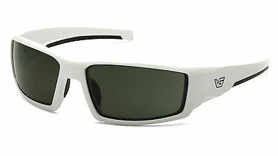 Venture Gear Pagosa VGSW522T White Frame/Smoke Green Safety Sunglasses AF Lens