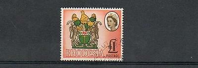 STAMPS  from  RHODESIA 1966 - 69   1£   (FINE USED )  lot A14a