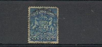 STAMPS  from  RHODESIA 1892   6d  SG3   ( USED )  lot A14c