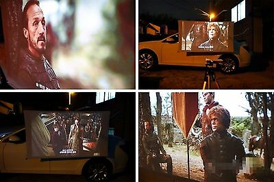 "US 90"" Portable outdoor Projection Cinema screen My own movie theater wall mount"