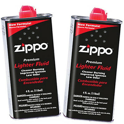 2 Cans of Genuine Zippo 4 oz.118ml Lighter Fluid Fuel