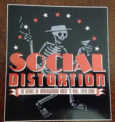 "Social Distortion Sticker 4""x4.5"""