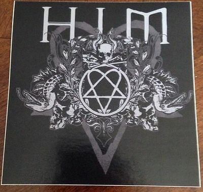 "HIM Band Sticker 4""x4"""