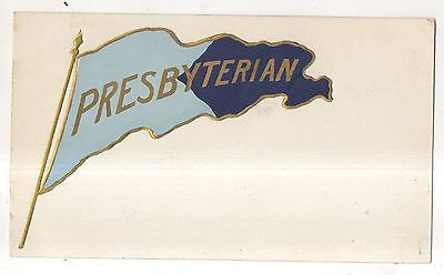 Unidentified Presbyterian College, University, or High School Pennant Postcard