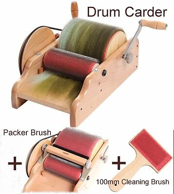 "DRUM CARDER 8"" ASHFORD for spinning felting carding blending fibre  Brand New"