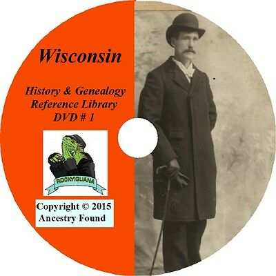 253 RARE books - WISCONSIN History & Genealogy - HUGE COLLECTION on DVD
