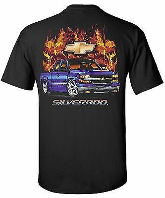 Chevy Silverado Pickup Truck T-Shirts - Flamed
