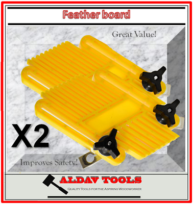 Feather Board x 2, Mitre Miter and T-Slot Fixture Set, Table Saw Featherboard