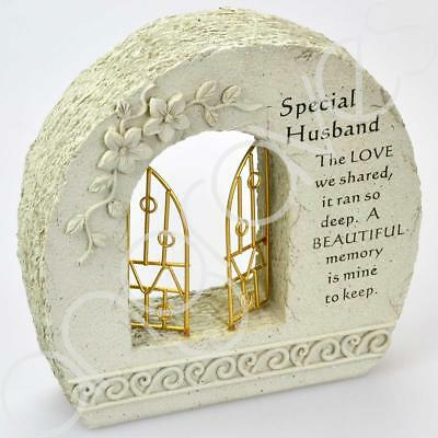 Special Husband Gates to Heaven Graveside Memorial Plaque Grave Ornament