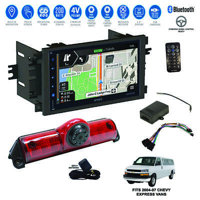 GPS Navigation/Bluetooth Radio+Backup Camera+04-07 Chevy Express Van Dash Kit