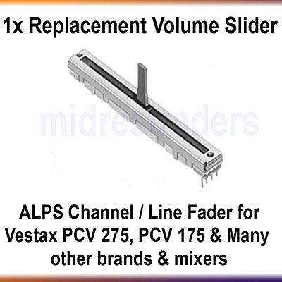 ** Vestax Replacement Volume Slider / Fader for PCV-175 PCV-275 PMC-17A & More**