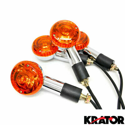 4x Round Turn Signals Lights For Honda Gold Wing Goldwing GL 500 650 1000 1100