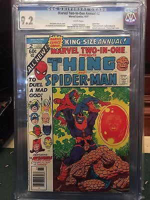 Marvel Two In One Annual #2 Cgc 9.2 Nm- Thanos (Id )