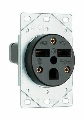Pass & Seymour #3801CC6 30A Flush Power Receptacle Outlet 250V 2 Pole 3 Wire