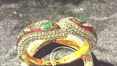 "Antique gold plated ""Handmade"" and Cuff (kada)"