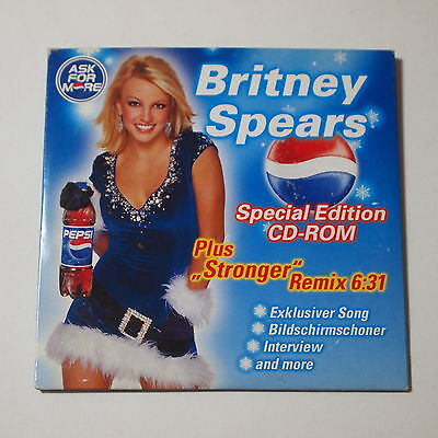 Britney Spears - Pepsi Ask For More GERMAN PROMO CD-ROM LIMITED VERY RARE
