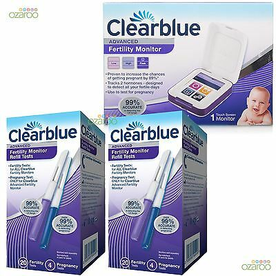 Clearblue Advanced Fertility Monitor Pregnancy Kit with 40 Ovulation Test Sticks