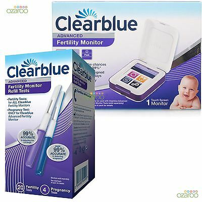 Clearblue Advanced Fertility Monitor Pregnancy Kit with 20 Ovulation Test Sticks