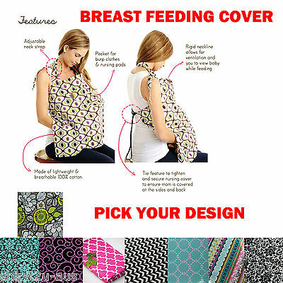 LARGE Breast Feeding Cover or Pram Cover Good Coverage Nursing Private Open Neck