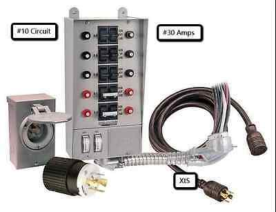 Generator Transfer Switch Kit Portable Circuit Emergency Standby Camping Power