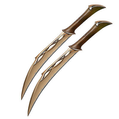 UNITED CUTLERY Fighting Knives of Tauriel Prop Replica Daggers SEALED NEW