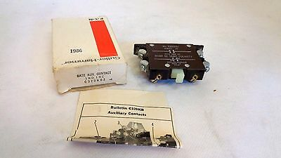New In Box Eaton/cutler Hammer C320Kb2 Auxiliary Contact 1No 1Nc