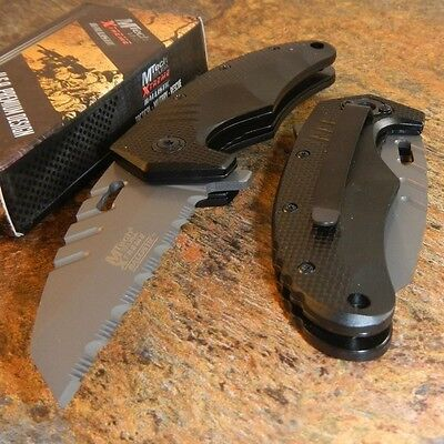 MTECH Xtreme Spring Assisted Grey WHARNCLIFFE Tactical Folding Pocket Knife NEW!