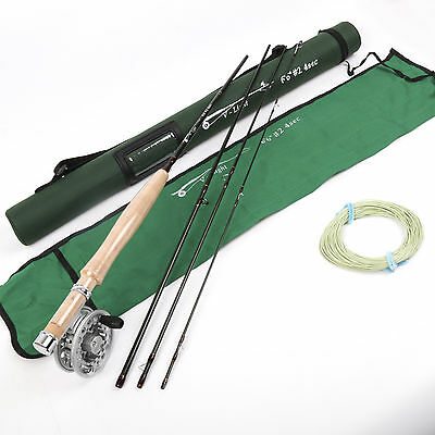 Fly Rod And Fly Reel Combo 6.6FT 2Weight 4Section Medium Fast Fly Fishing Rod