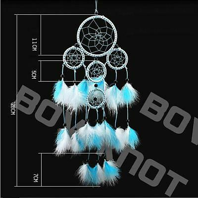 Handmade Dream Catcher #P with feathers wall hanging decoration ornament Gift